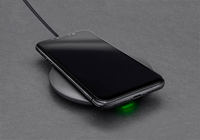 Downward facing LED indicator lets you know your device is charging with limited distraction.